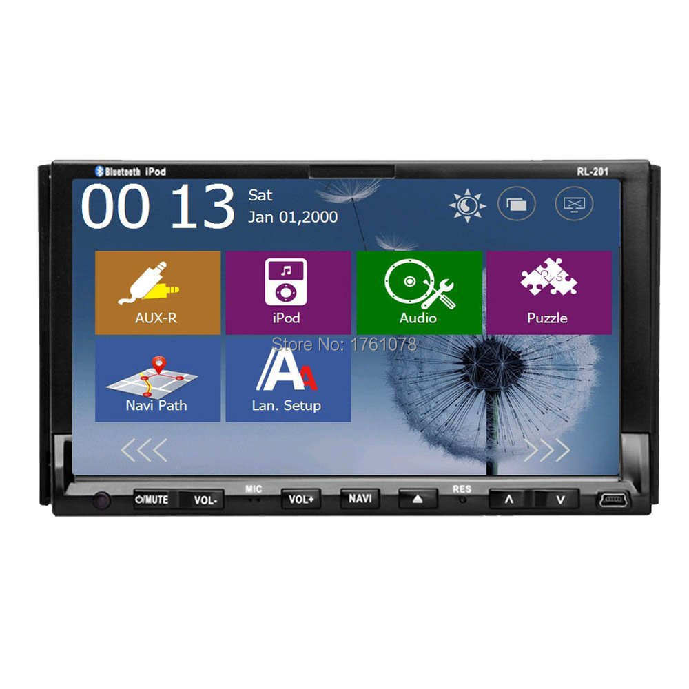 2015 NEW Windows CE 8 OS Double 2 Din In-Dash GPS Navigation Car Stereo DVD Player BT+IPOD+GPS+Radio+USB/SD 7'' Car Audio Radio(China (Mainland))