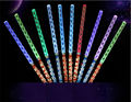 Free Ship 10pcs Colorful bar shaking led glow sticks Flash wands fluorescent wave rods acrylic kids