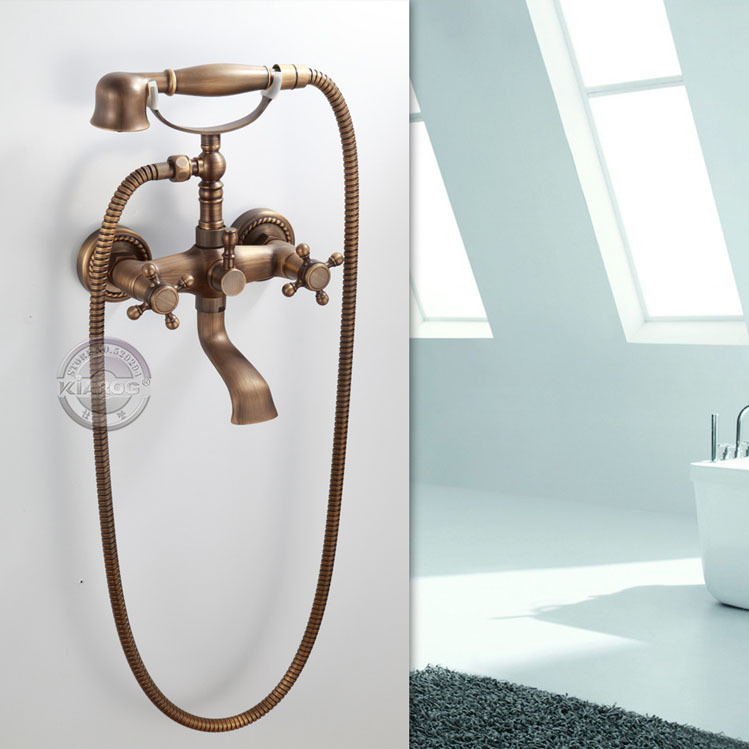 Wall Mounted Bathroom Clawfoot Bathtub Faucet Hand Shower Basin Sink Mi