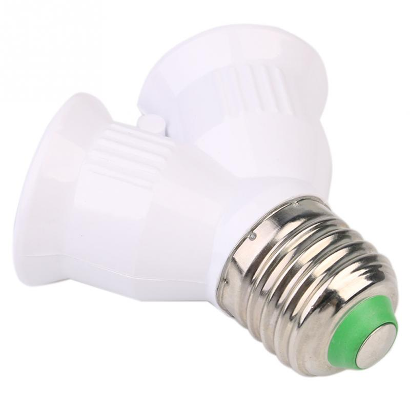 new e27 base light lamp bulb socket 1 to 2 splitter adapter converter. Black Bedroom Furniture Sets. Home Design Ideas