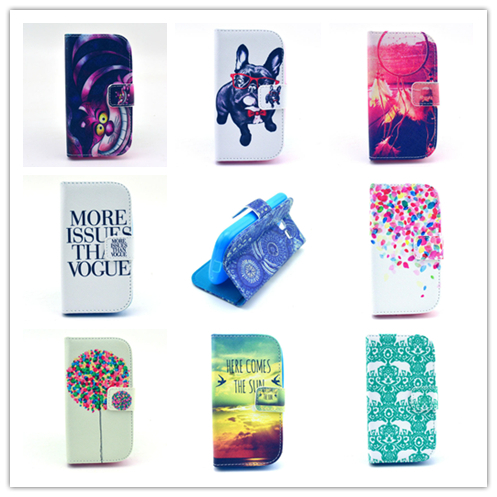 NEW Delux Cartoon Style PU Leather Stand Wallet Case Magnetic Flip Cover Phone Bag For Samsung Galaxy Trend Lite S7390 S7392(China (Mainland))