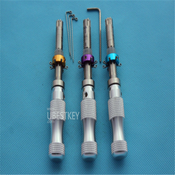 Plum Blossom Lock o-p-e-n-n-i-n-g tools longer tubular lock p-i-c-k set Long(3 sets) Free shipping u best key(China (Mainland))