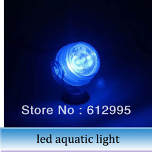 1pc LED aquatic lamp diving lighting aquarium fish tank 1 w tank night light BLUE(China (Mainland))
