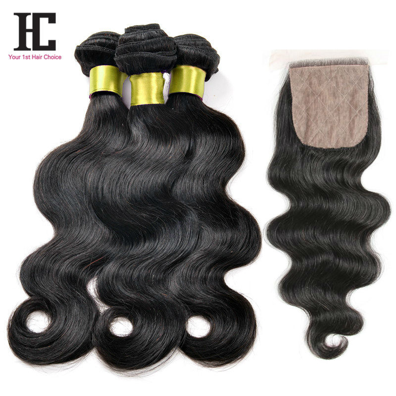 Brazilian Body Wave With Closure 7A Silk Base Closure With Bundles Top 3Bundles And Closure Virgin Brazillian Hair With Closure <br><br>Aliexpress