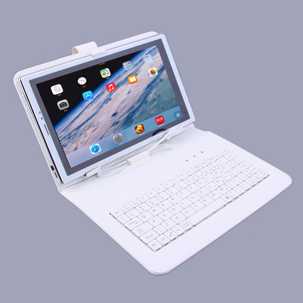 Profession Learning Calls Tablet Education Computer Study Machine Toy Gift with Keyboard Case For Kids Children US Plug White(China (Mainland))