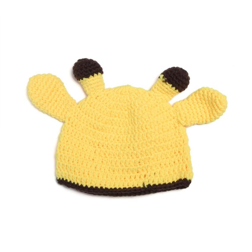 Deer Boy Girl Knitted Crochet Photography Props Newborn Baby Handmade Hat Baby Cap Infant Hats(China (Mainland))