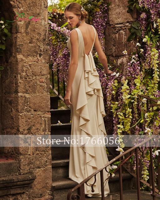 Новый дизайнер сексуальные спинки оборками оболочка свадебное платье 2015 развертки ...