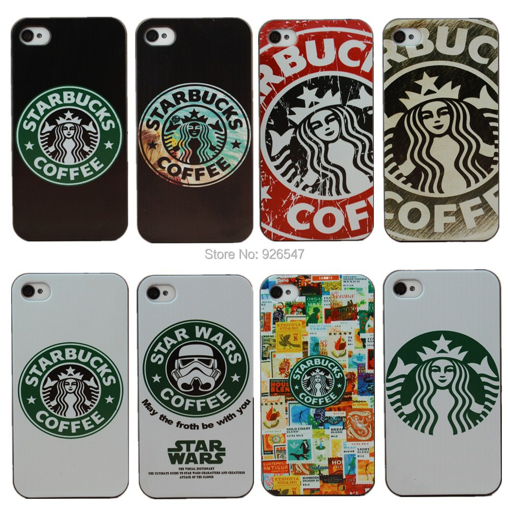 Fashion Starbucks Star wars coffee design phone Case Cover for Apple i Phone iPhone 4 4S 4G,Phone Case 1 piece Free Shipping(China (Mainland))