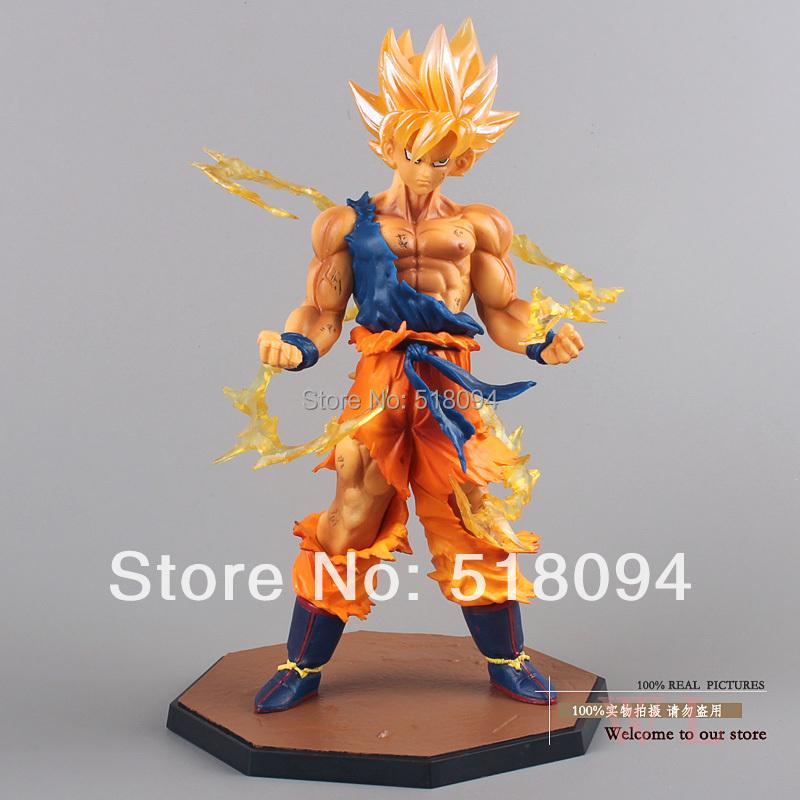 "Free Shipping 6.8"" Dragon Ball Z Super Saiyan Goku Son Gokou Boxed PVC Action Figure Model Collection Toy Gift DBFG071(China (Mainland))"