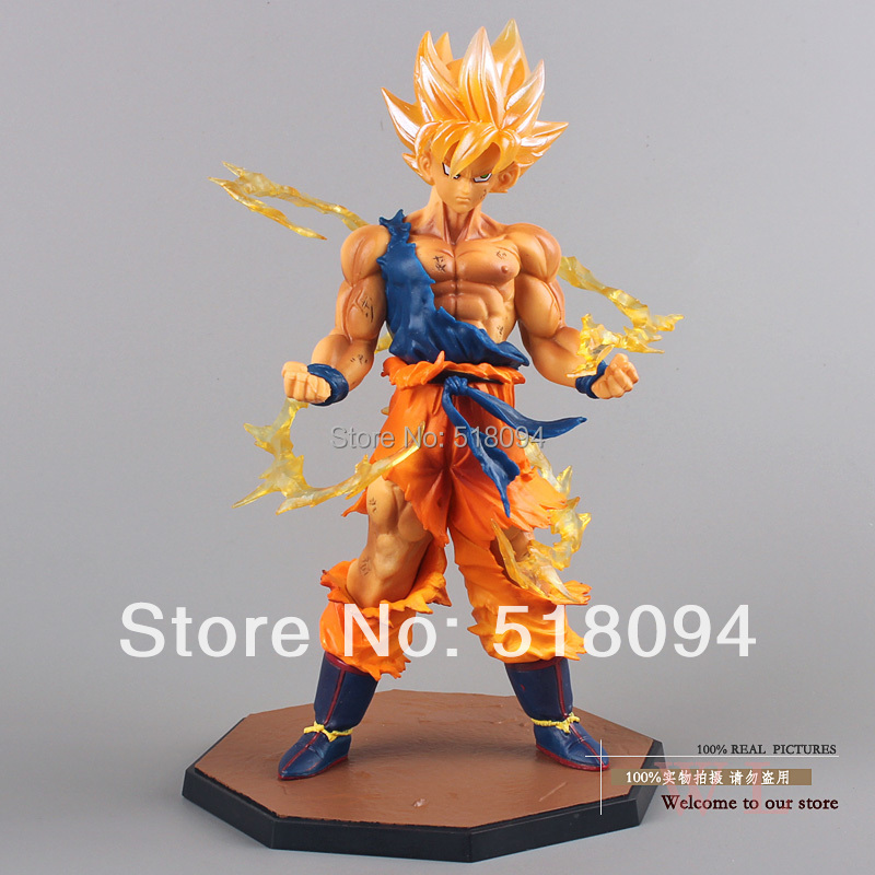 "Free Shipping 6.8"" Dragon Ball Z Super Saiyan Goku Son Gokou Boxed PVC Action Figure Model Collection Toy Gift DBFG071(China (Mainland))"