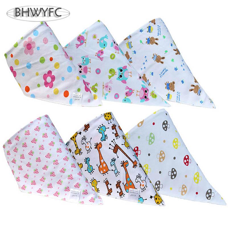 Baby Bibs 6 Pieces / lot Cotton Bib Carters Baby Girl/Boy Toddler Bandana Bibs Triangle Super Absorbent Burp Cloths(China (Mainland))