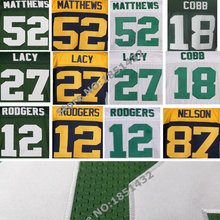 12 Aaron Rodgers Jersey,18 Randall Cobb 52 Clay Matthews 85 Greg Jennings Jordy Nelson jersey Elite Stitched Football Jersey(China (Mainland))