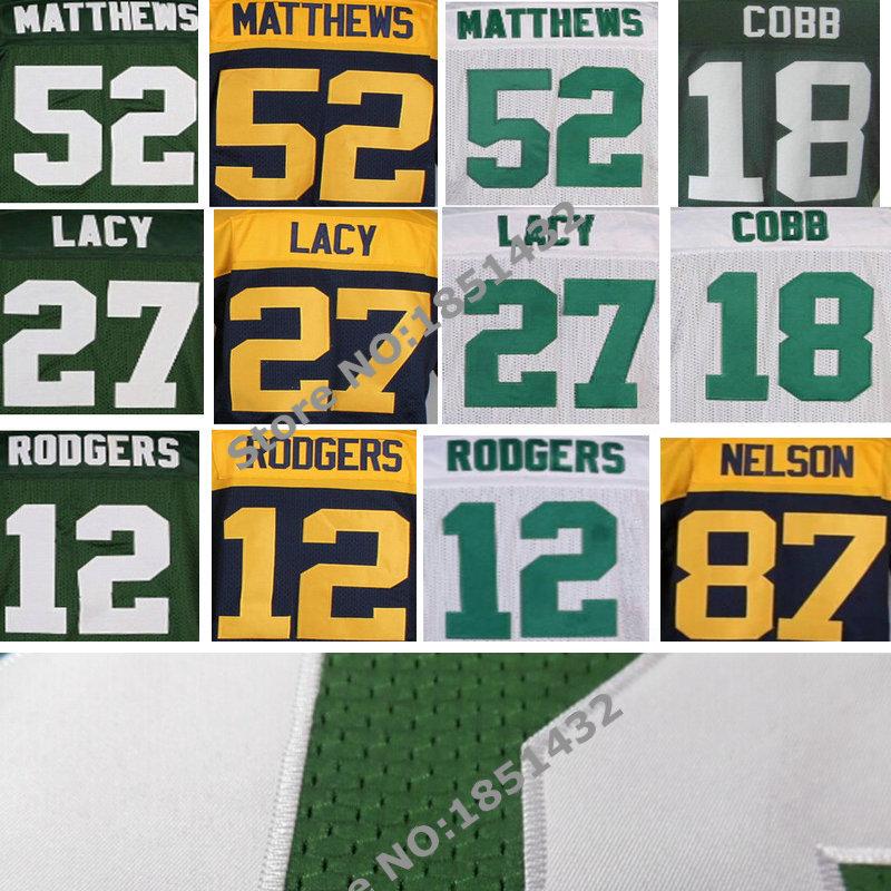 12 Aaron Rodgers Jersey,18 Randall Cobb 52 Clay Matthews 85 Greg Jennings Jordy Nelson jersey Elite Stitched Football Jersey(China (Mainland))