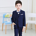 2015 Boys Jeans Blue Blazer Jacket Long Sleeve 4-12y Kids Clothes Children Single Breasted Outwear For Child Fashion Blazer EB15
