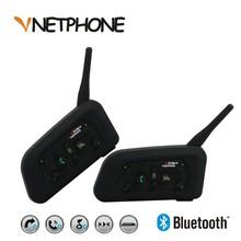 2 x1200M Bluetooth Intercom Headset 6 Riders Handsfree V6 Waterproof Motorcycle Interphone Support Stereo Music/Audio