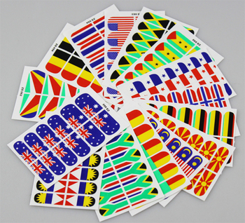 High Quality Flag Style Nail Art Foil Patch Sticker For Nails Beauty Desgin & Decoration 30pack/lot Product Wholesale 547