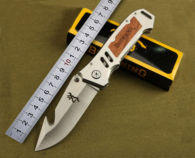 Browning Extreme survival Hunting knife Pocket knife Foldling Knife with steel handle outdoor survival tool  free shipping(China (Mainland))