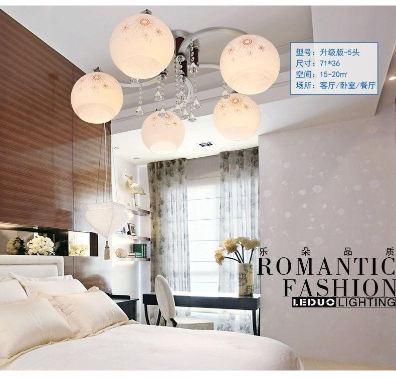 Modern aluminum ceiling lamp living room crystal light chandelier romantic bedroom dining room lighting accessories(China (Mainland))