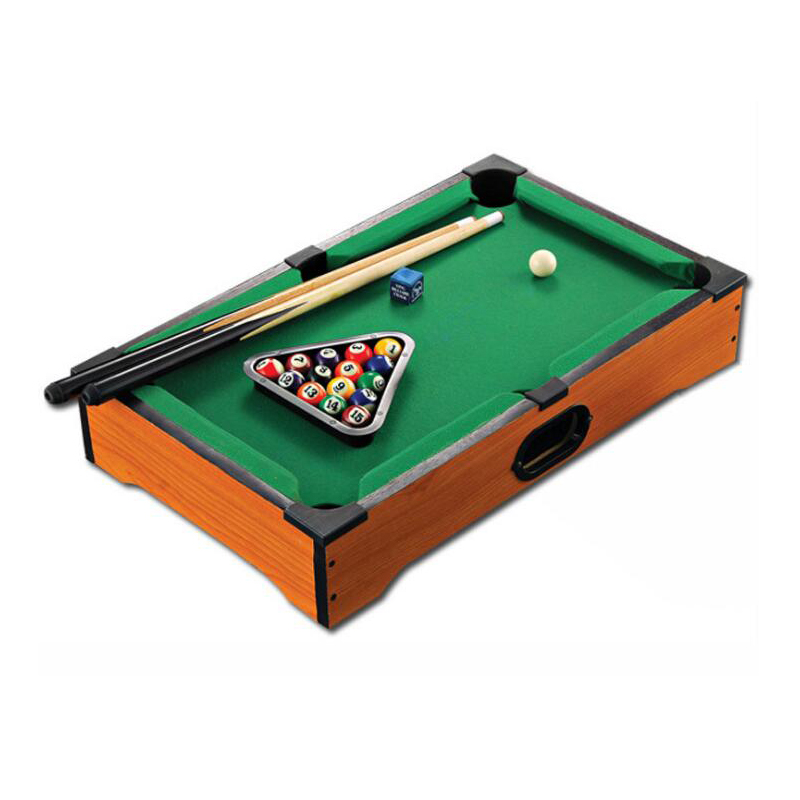 2017 New Children's Billiard Table Wooden Toys mini billiard table with cues triangle and mini pool ball Kids Gift(China (Mainland))