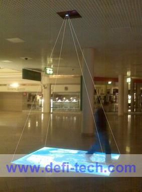 FREE SHIPPING 111 effectives Interactive floor projection system,Support people while interaction(China (Mainland))