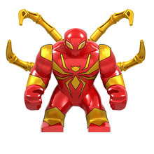 Marvel Super heroes Hulk Valkyrie Crocodilo assassino Thanos Blindado Spiderman Figuras Grandes Blocos de Construção de Brinquedos Para As Crianças Presentes(China)