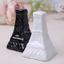 100 pair /200 PIECES Newest Festive & Party Supplies Eiffel Tower Design Salt and Pepper Shakers Wedding Favors Kitchen tools (China (Mainland))