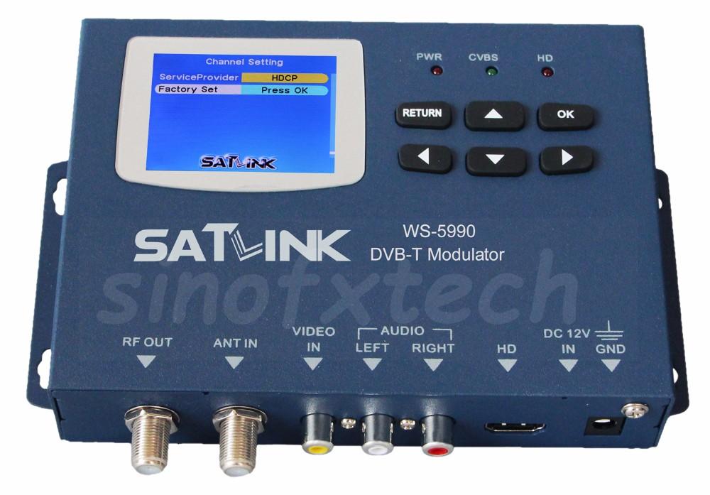 MPEG2 DVB-T modulator SATLINK WS-5990