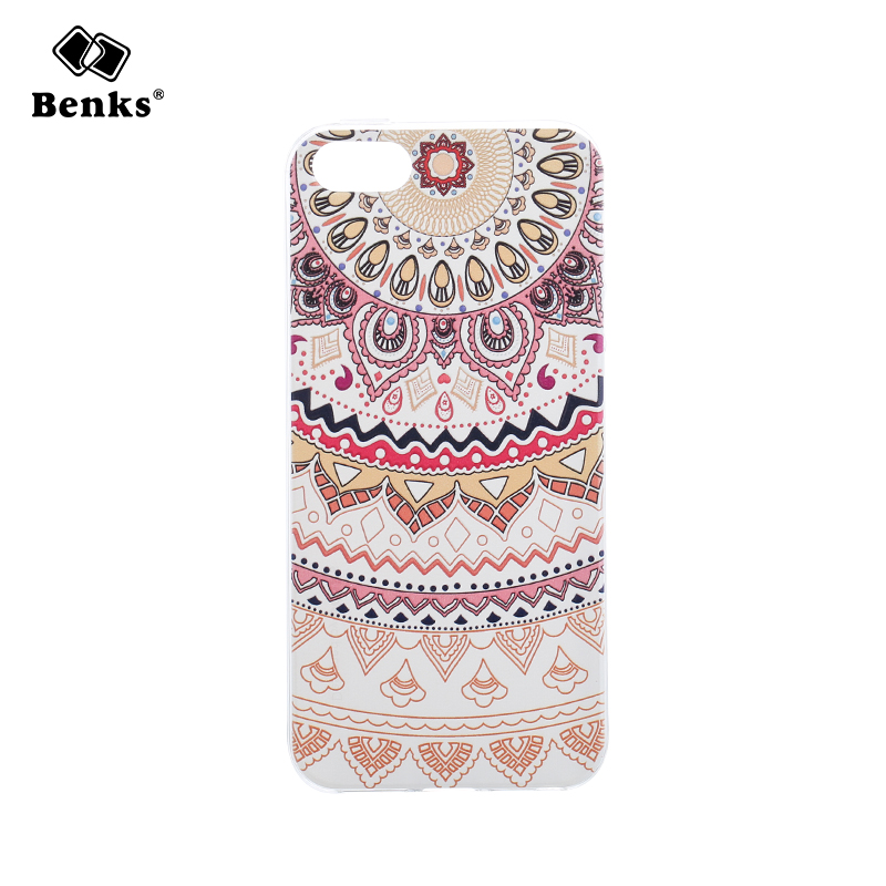 Benks 5s SE Luxury 3D Relief Print Soft TPU Case Cover for iPhone 5 Mobile Phone Fashion Stereo Embossment Full Protection Cases(China (Mainland))