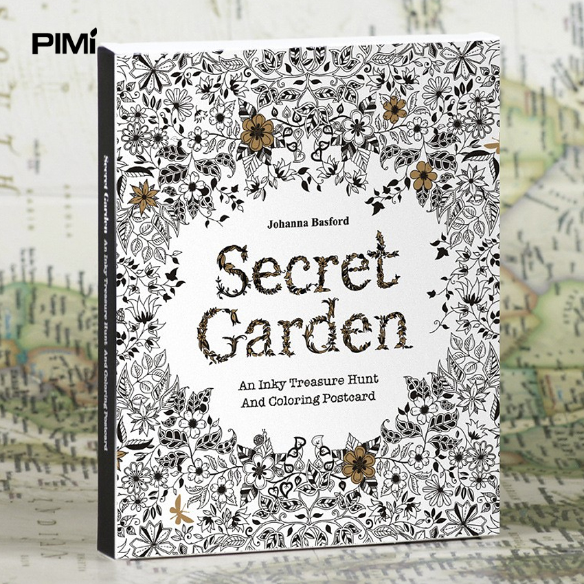 English Edition Secret Garden 30 Pages Coloring Books