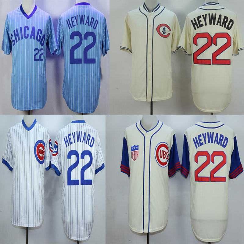 Good Quality Chicago Cubs #22 Jason Heyward Cool Base Baseball Jersey Chicago Cubs Throwback Jersey Men's Embroidery logo Jersey(China (Mainland))