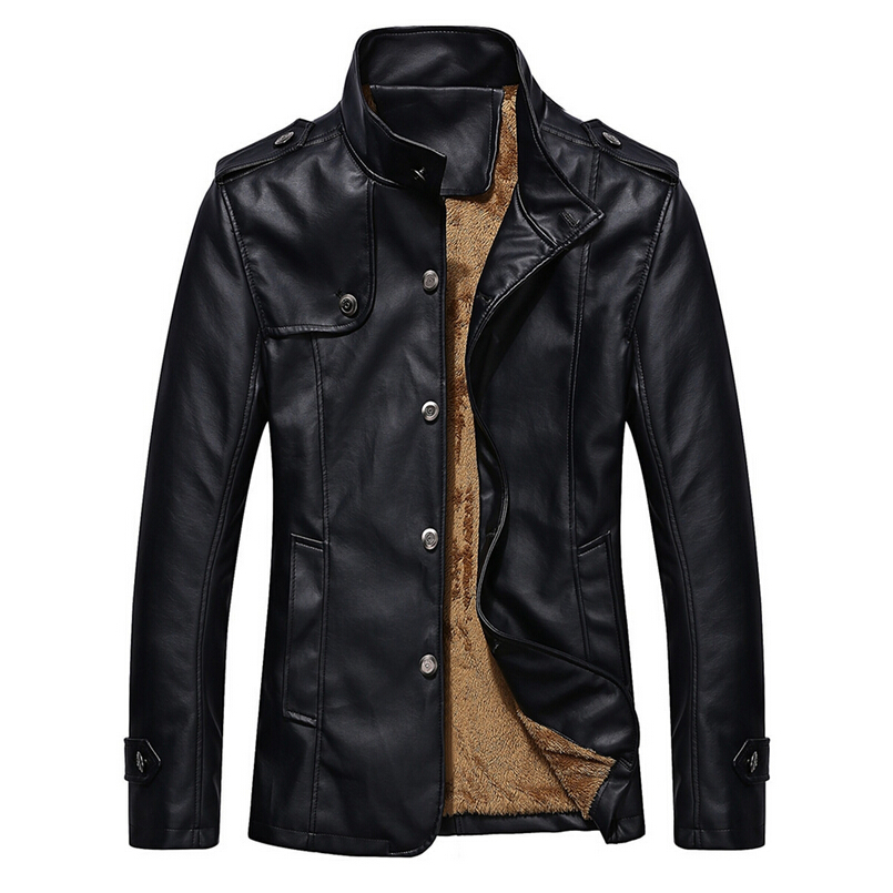 2015 new arrive brand Man Lether Jackets fashion Pu ...