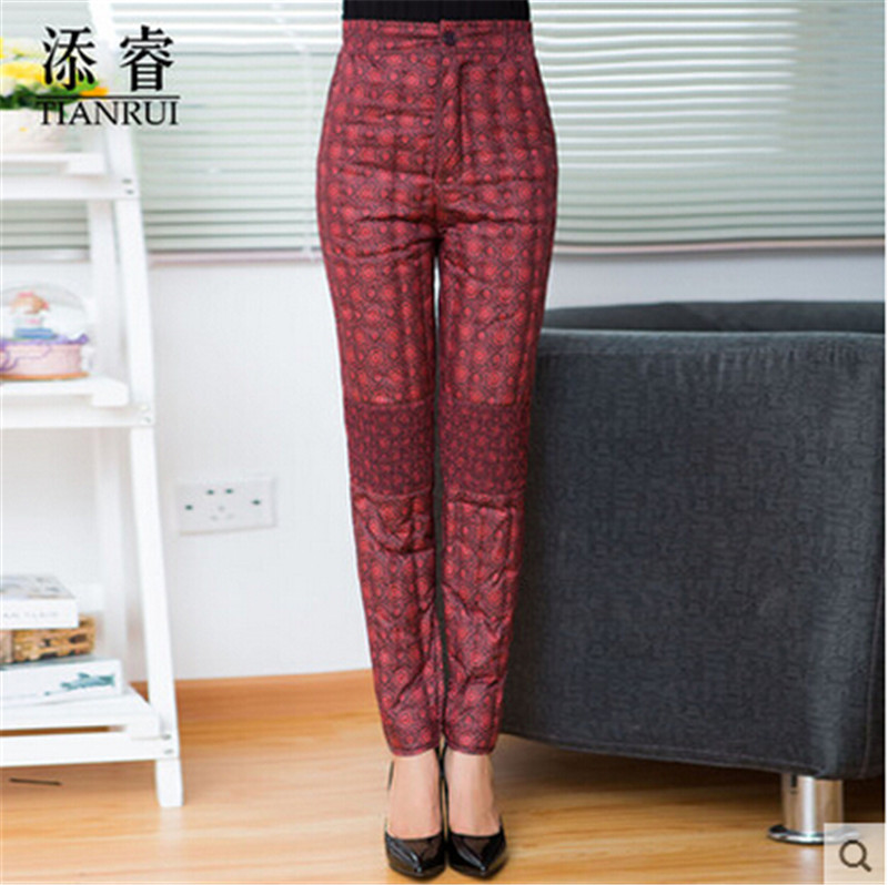 Fashion Down pants Women Long pants Winter Slim New White duck down Super warm Household clothing name products AA8591(China (Mainland))