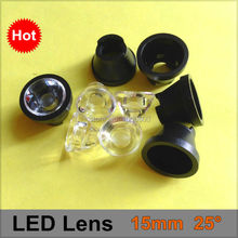Buy 50 Pcs 15mm 25 Degree Angle LED Lens holder black braket Concave Optical Lenses 1W 3W 5W Power Lens Reflector Collimator for $8.50 in AliExpress store