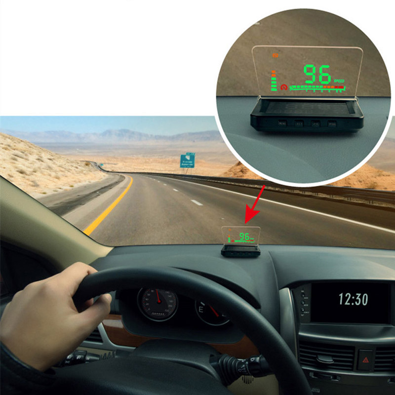 Professional Car HUD Head Up Display OBD II Engine Fault Alarm&Code Elimination Automatic Speedometer Fuel Consumption Display(China (Mainland))