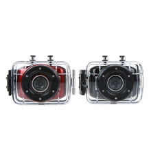 2 Colors! 2014 Waterproof HD 720P LED Touch Screen Sports Action Camera Mini Digital Camcorder with Waterproof Case Black/Red(China (Mainland))