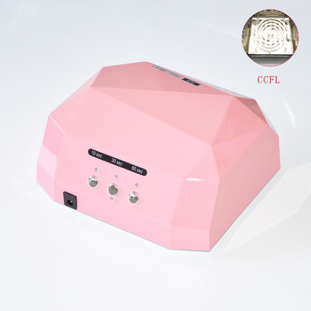 Free Shipping 36W UV Lamp LED Nail Dryer Light CCFL Diamond Shaped Best Curing Machine for UV Gel Nail Polish Nail Art Tools