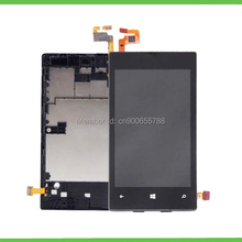 For Nokia Lumia 520 525 LCD Display+touch Screen Digitizer Assembly with Frame Mobile Phone Repair Part Replacement Black color
