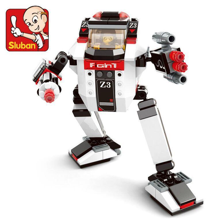 Sluban 139pcs Robot Series blocks Robot Educational Block Scale Models Toys For Children(China (Mainland))