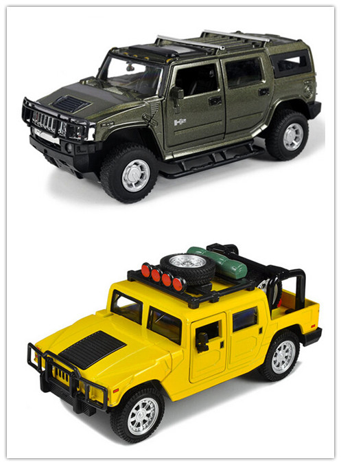 Hummer H1 H2 SUV model car 1:32 alloy Diecast pull back music flashing Electric Simulation for kids toys(beibei102)(China (Mainland))