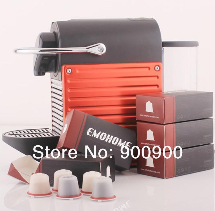 EMOHOME EM-03 use 300 times more Espresso refillable Coffee Capsule pod reusable compatible Nespresso machines retail(China (Mainland))