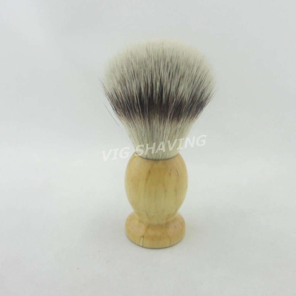 Synthetic nylon wood handle faux silvertip Shave Brush knot 20mm(China (Mainland))