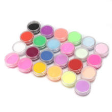 Newest fashion 24 Colors Home DIY 3D Manicure Tips Nail Acrylic Powder and Liquid Glitter Dust Gem Design Nail Art Decoration(China (Mainland))
