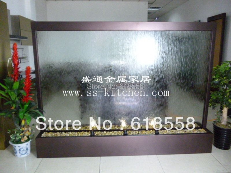 Customized Coffee House Room Divider Indoor Glass Water