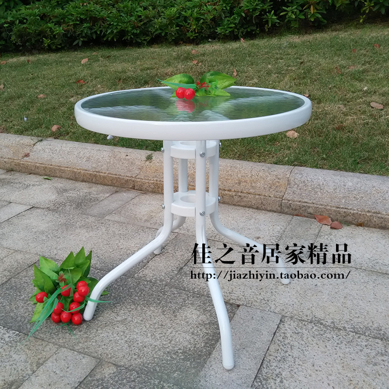 black garden coffee table 2