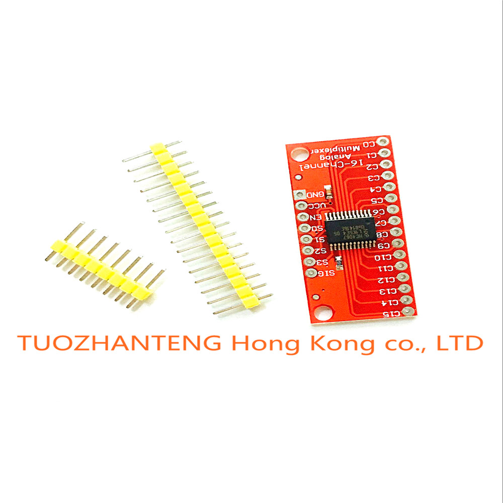 10PCS CD74HC4067 16-Channel Analog Digital Multiplexer Breakout Board Module For Arduino