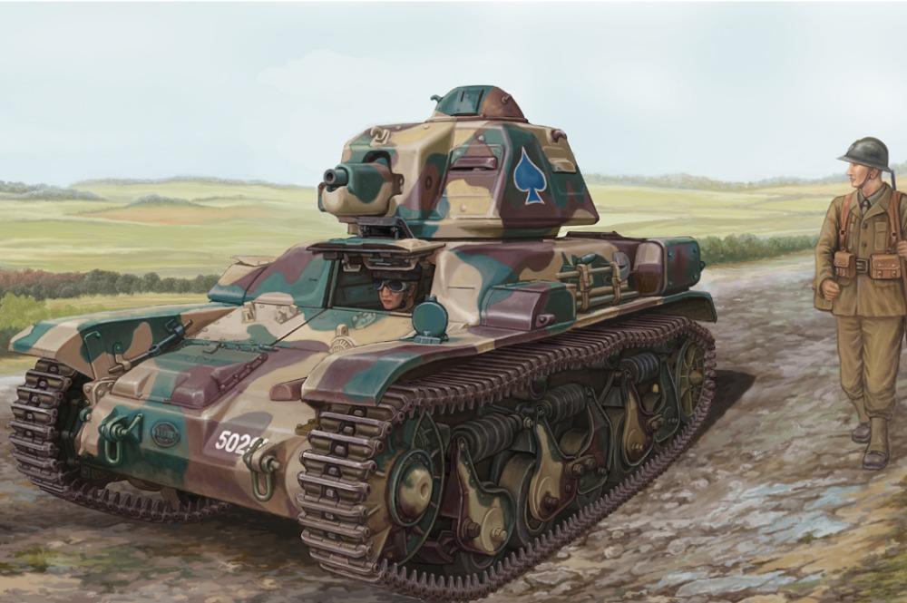 Hobby Boss model 83806 1/35French R35 Light Infantry Tank plastic model kit(China (Mainland))
