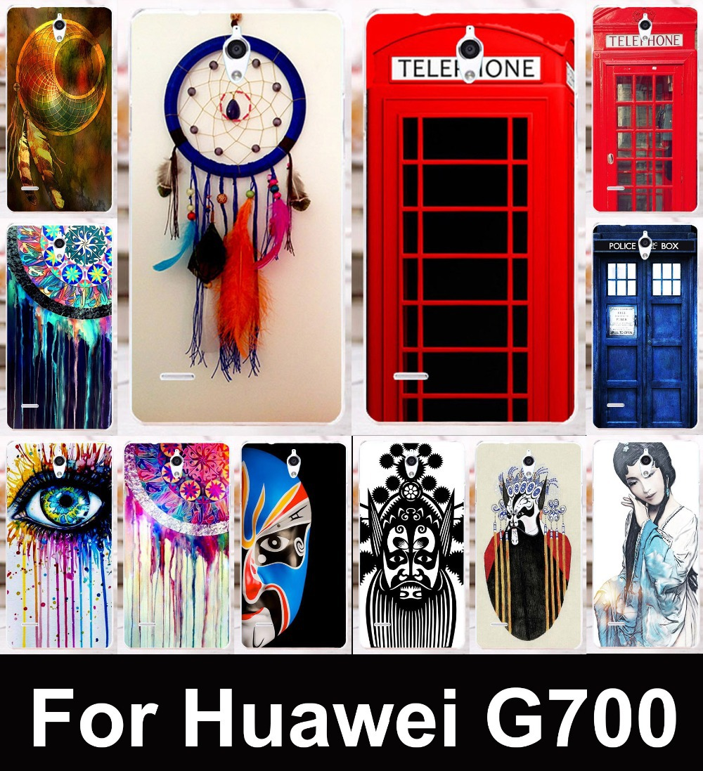 2015 Transparent sides Multi Styles Dreamcatcher mobile phone protective case hard Back cover Skin Shell for Huawei Ascend G700(China (Mainland))