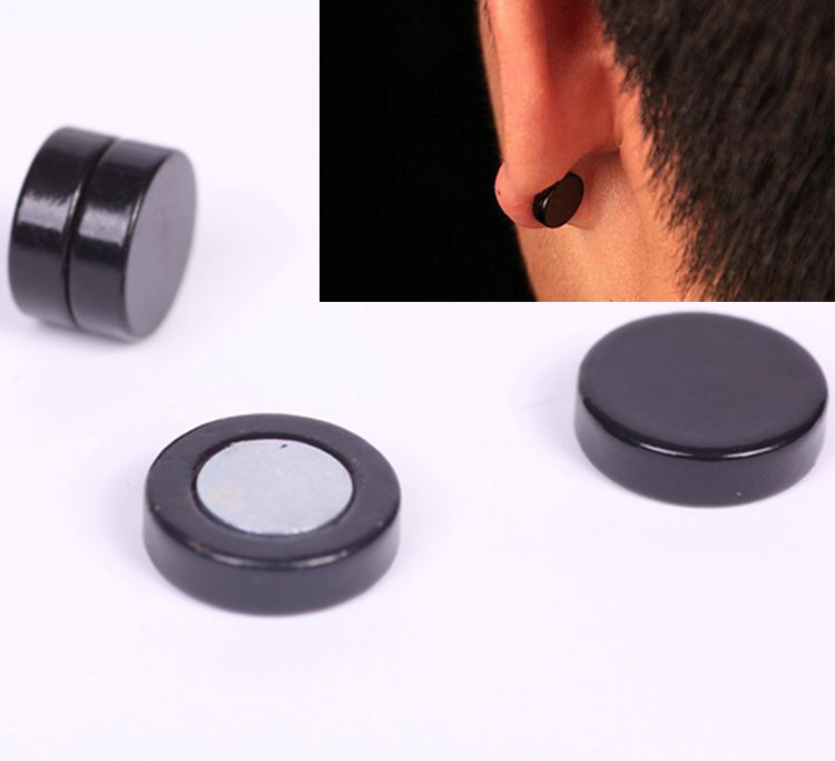 Black Magnetic Earrings For Men