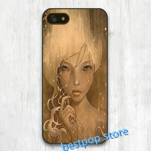 Audrey Kawasaki Art cover case for iphone 4 4s 5 5s SE 5c 6 6 plus 6s plus for samsung galaxy S3 S4 S5 S6 S7 Note 2 3 4(China (Mainland))