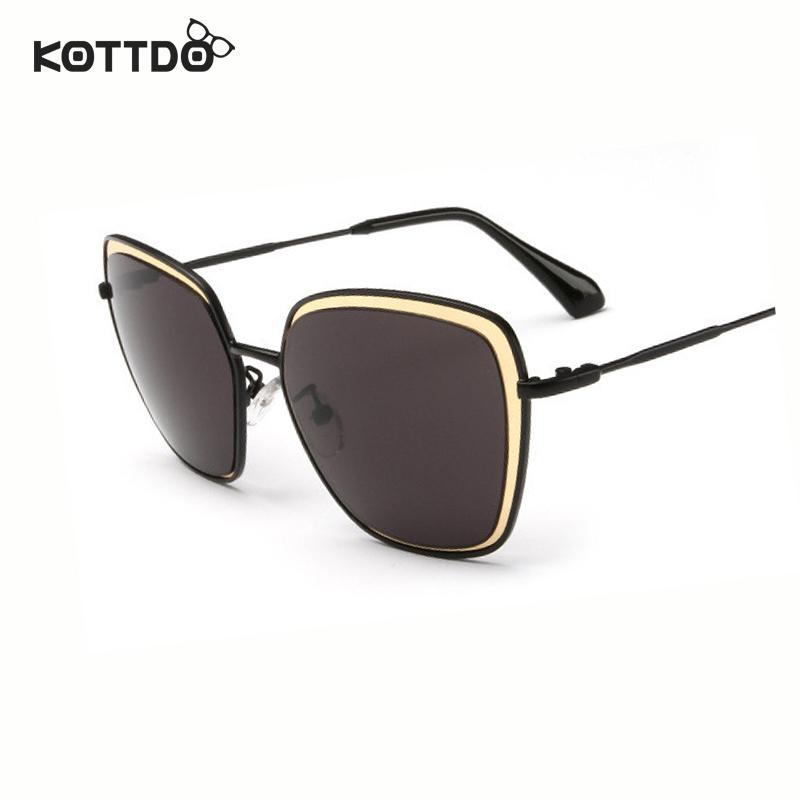2016 New Brand Fashion Big Square Frame Out door Sunglasses Metal Coating Women Retro Vintage UV400 oculo de sol feminino(China (Mainland))